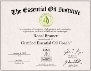 Ronai Brumett - Certified Essential Oil Coach